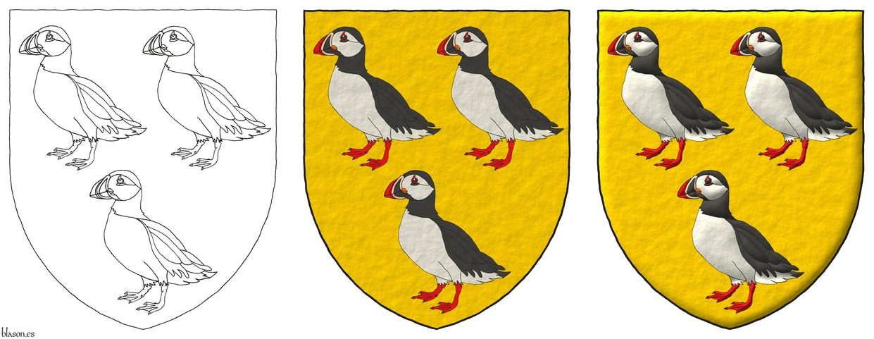 Or, three puffins proper.