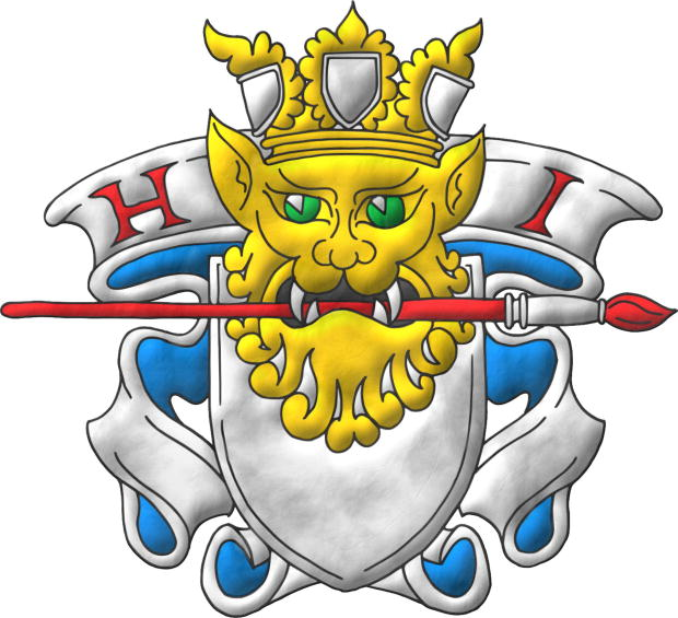 Heralds International, parchment insignia of heraldic artists