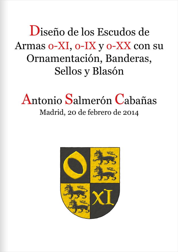 Design of the coats of arms o-XI, o-IX, o-XX