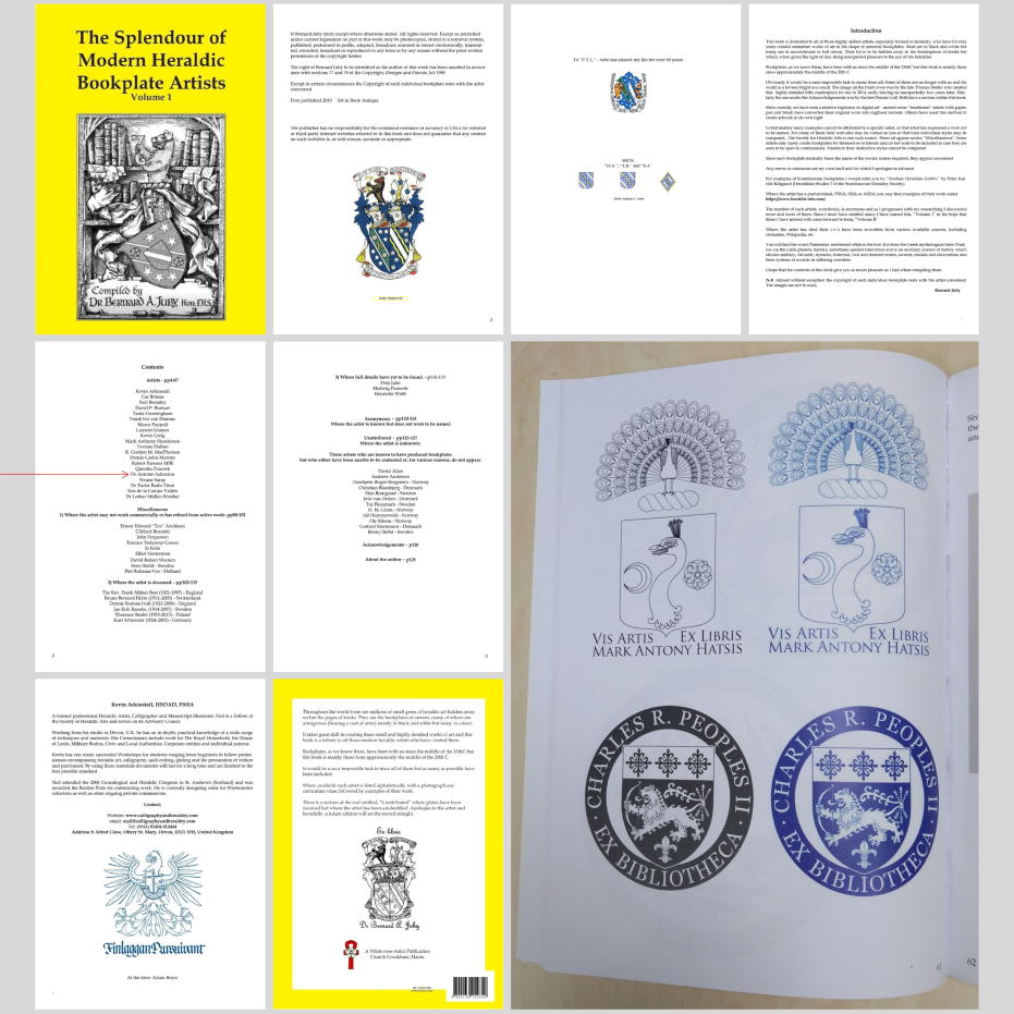 Modern-day, world-wide Heraldic bookplate artists