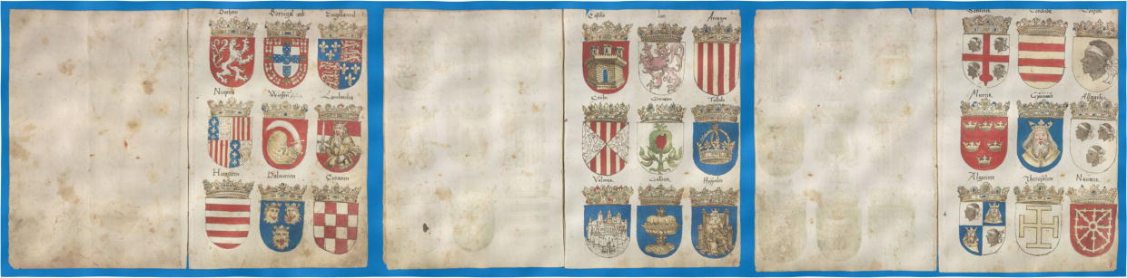 Vigil Raber, 1548, pages from 2 to 4, it has 7244 coat of arms