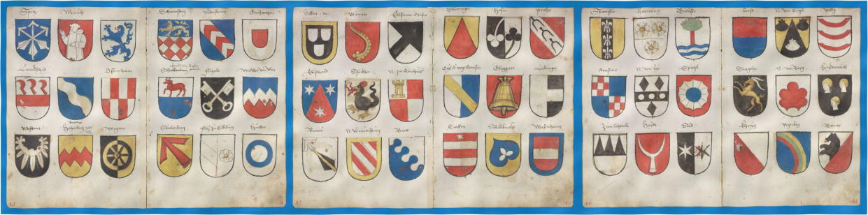Vigil Raber, 1548, pages from 10 to 15, it has 7244 coat of arms