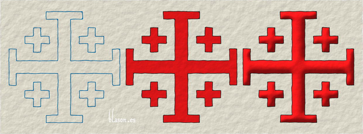 Cross of Jerusalem, how to paint it in Gules.