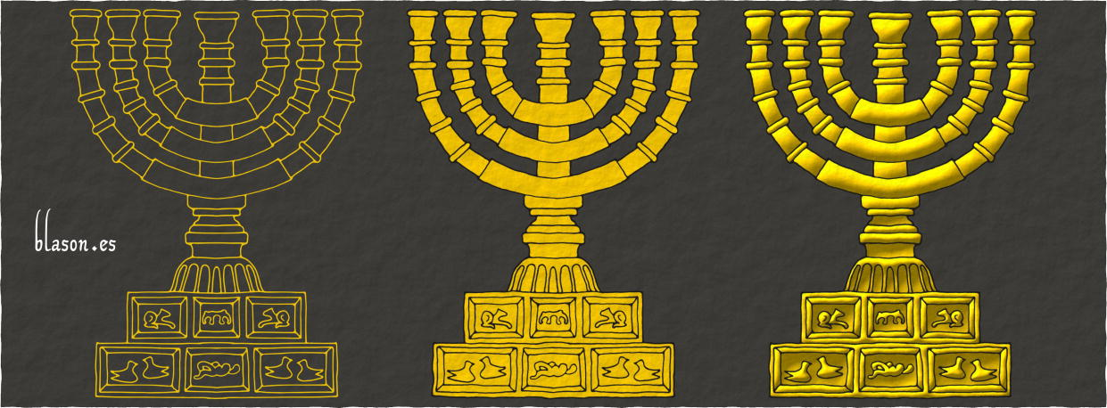 How to paint a Menorah Or.