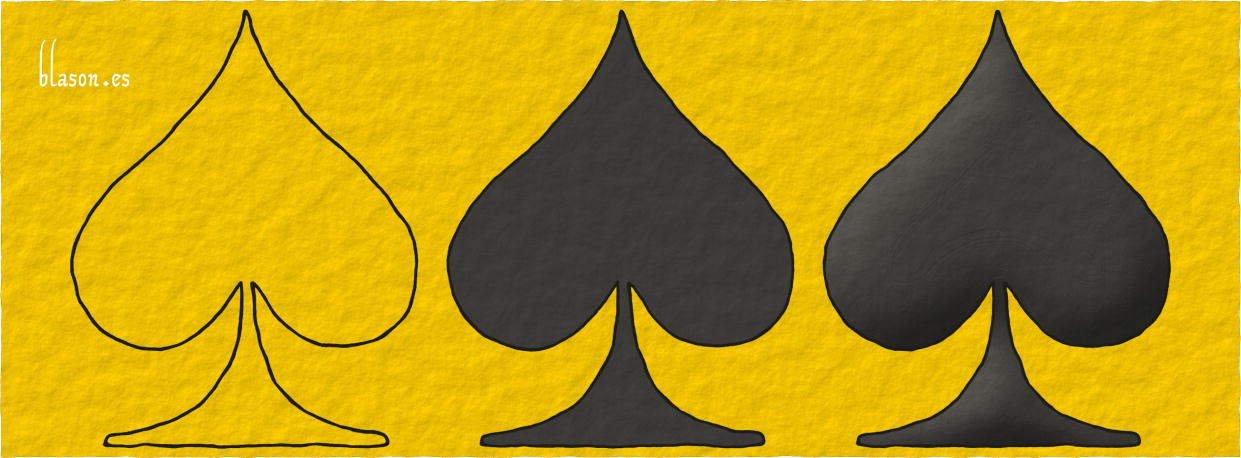 Scheme of realization of a Ace of spades Sable