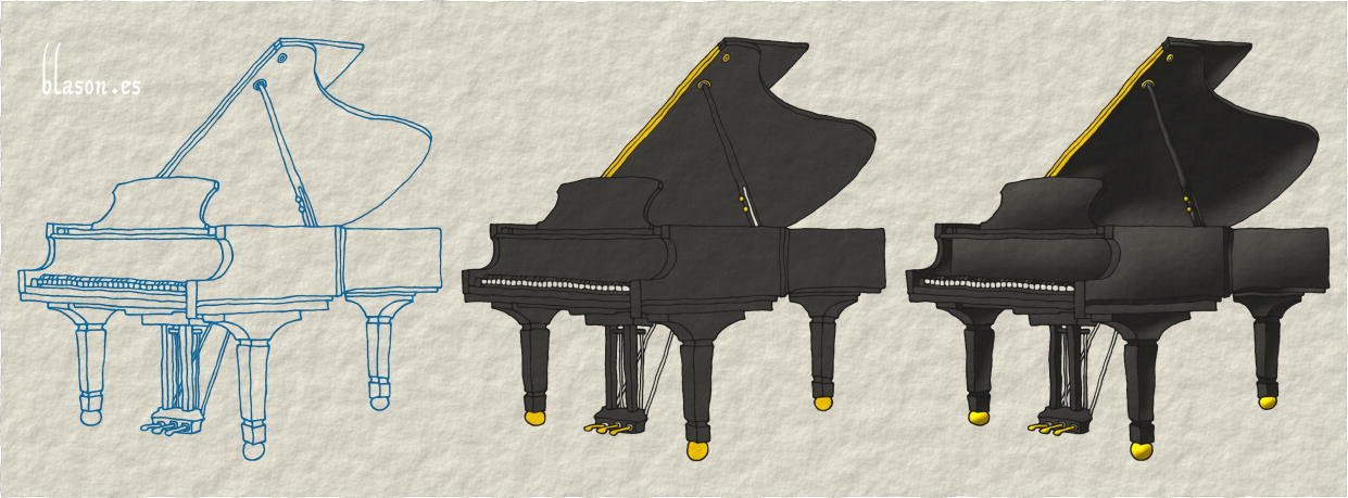How to paint a Piano proper