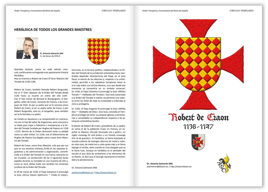 Lozengy Or and Gules. Behind the shield a cross patty Gules.