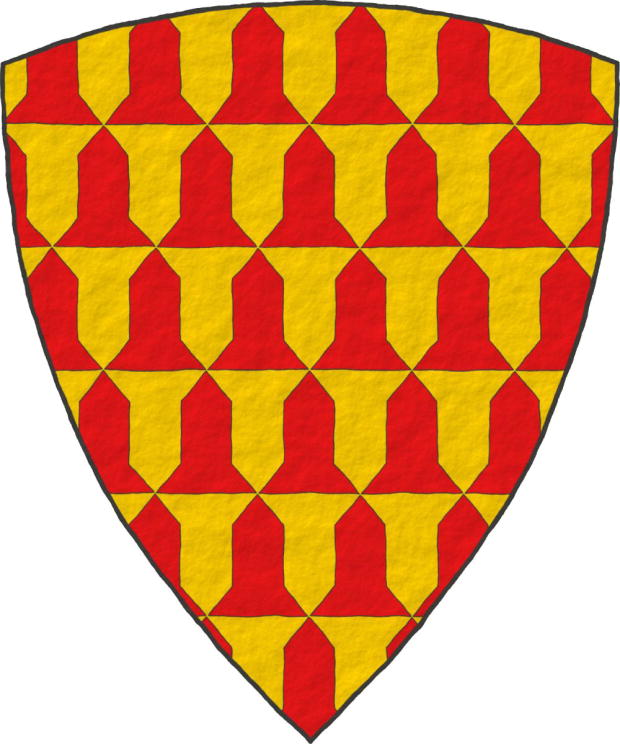 Earl of Derby, Verado de oro y gules Vairy or and gules